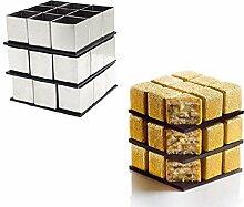 AK Art Geschirr Magic Square Edelstahl Schokolade Sweet Formen Bakeware Dosen & Tabletts Teig Werkzeuge Dessert Werkzeug Candy Formen Tasse Kuchen dekorieren Tools Mousse Kuchen, Form