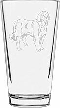 Akbash Libbey Pint-Glas mit Hundemotiv, 473 ml