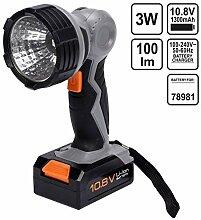 Akku Taschenlampe 10,8V 1,3Ah mit schwenkbaren