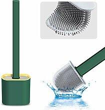 Akoblyh Silikon-WC-Bürste und -Halter, montiert,
