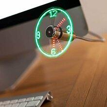 Akord USB-Ventilator mit LED-Uhr