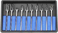 Akozon Diamantfräser, 10 Stück, Dremel-Werkzeug,