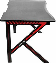 AKRacing Desk Gaming Tisch, MDF, Schwarz/Rot,