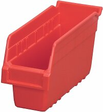 akro-mils 30040shelfmax Kunststoff Mülleimer Box Regal Nistkasten, 12Zoll Länge x 4-Zoll Breite x 6höhe, Fall von 16, 30040RED