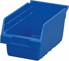 akro-mils 3009012Zoll L von 6W von 6H KLAR shelfmax ER Kunststoff Mülleimer Box Regal Nistkasten, 10, 30090BLUE