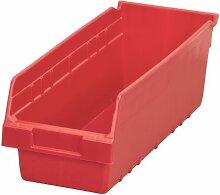 akro-mils 3009818L von 6W von 6H KLAR shelfmax ER Kunststoff Mülleimer Box Regal Nistkasten, 10, 30098RED