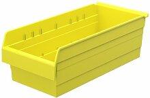 Akro-Mils 30804 ShelfMax 8 Kunststoff-Mülleimer, stapelbar, 24 x 11 x 8 cm, Gelb, 4 Stück
