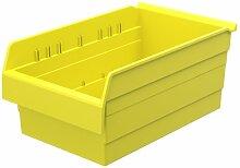 akro-mils 30808shelfmax 8Kunststoff Mülleimer Box Regal Nistkasten, 18x 27,9cm x 20,3cm, gelb, 4er Pack