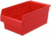 akro-mils 30808shelfmax 8Kunststoff Mülleimer Box Regal Nistkasten, 18x 27,9cm x 20,3cm, Rot, 4er Pack