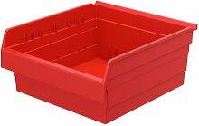 akro-mils 30818shelfmax 8Kunststoff Nistkasten Mülleimer Box Regal–45,7cm L x 40,6cm W x 20,3cm H, 30818RED