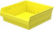 akro-mils 30824shelfmax 8Kunststoff Mülleimer Box Regal Nistkasten, 24x 22x 20cm, gelb, 4er Pack