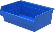 akro-mils 30826shelfmax 8Kunststoff Mülleimer Box Regal Nistkasten, 16x 22x 20,3cm, Blau, 4er Pack