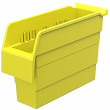 akro-mils 30840shelfmax 8Kunststoff Mülleimer Box Regal Nistkasten, 12Zoll x 4-Zoll x 20,3cm, gelb, 16Stück