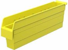 akro-mils 30844shelfmax 8Kunststoff Mülleimer Box Regal Nistkasten, 24x 4-Zoll x 20,3cm, gelb, 8er Pack