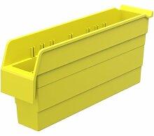 akro-mils 30848shelfmax 8Kunststoff Mülleimer Box Regal Nistkasten, 18x 4-Zoll x 20,3cm, gelb, 8er Pack