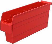akro-mils 30848shelfmax 8Kunststoff Mülleimer Box Regal Nistkasten, 18x 4-Zoll x 20,3cm, Rot, 8er Pack