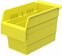 akro-mils 30860shelfmax 8Kunststoff Mülleimer Box Regal Nistkasten, 12Zoll x 15,2cm x 20,3cm, gelb, 10er Pack