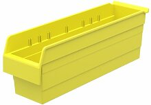 akro-mils 30864Mehrfach shelfmax 8Kunststoff Mülleimer Box Regal Nistkasten, 24x 6x 20cm, gelb, 10er Pack
