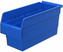 akro-mils 30866shelfmax8Kunststoff Mülleimer Box Regal Nistkasten, 16x 6x 20,3cm, Blau, 10er Pack