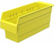 akro-mils 30868shelfmax 8Kunststoff Mülleimer Box Regal Nistkasten, 18x 6x 20,3cm, gelb, 10er Pack