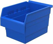 akro-mils 30880shelfmax 8Kunststoff Mülleimer Box Regal Nistkasten, 12Zoll x 20,3cm x 20,3cm, Blau, 8er Pack
