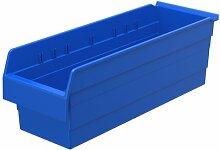 Akro-Mils 30884 ShelfMax 8 Kunststoff-Mülleimer, stapelbar, 24 cm x 8 cm x 8 cm, Blau, 8 Stück