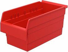 akro-mils 30886shelfmax 8Kunststoff Mülleimer Box Regal Nistkasten, 40,6cm x 20,3cm x 20,3cm, Rot, 8er Pack