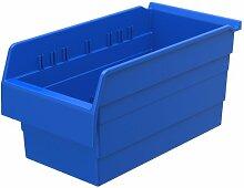 akro-mils 30886shelfmax 8Kunststoff Mülleimer Box Regal Nistkasten, 40,6cm x 20,3cm x 20,3cm, Blau, 8er Pack