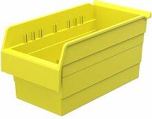 akro-mils 30886shelfmax 8Kunststoff Mülleimer Box Regal Nistkasten, 16x 20,3x 20,3, gelb, 8er Pack