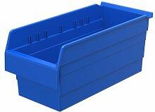 akro-mils 30888PVC shelfmax 8Kunststoff Mülleimer Box Regal Nistkasten, 18x 20,3cm x 20,3cm, Blau, 8er Pack