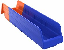 akro-mils 36448Indikator Inventar Kontrolle Double Hopper Kunststoff Regal Bin, blau/orange, Fall von 12