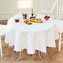 AKSHOME Nordic Tischdecke Einfarbig Bunte Bälle