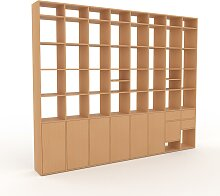 Aktenregal Buche - Büroregal: Schubladen in Buche