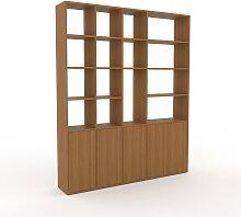 Aktenregal Eiche - Flexibles Büroregal: Türen in