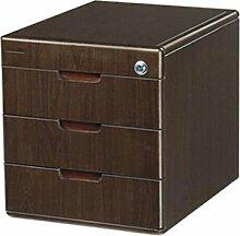 Aktenschrank Bürobedarf Woody Desktop Aufbewahrungsbox Schublade mit Schloss Aktenschränke Xuan - worth having ( Farbe : 3 layers )