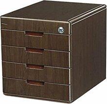 Aktenschrank Bürobedarf Woody Desktop Aufbewahrungsbox Schublade mit Schloss Aktenschränke Xuan - worth having ( Farbe : 4 layers )