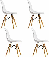 Aktion: 4 x Vitra - Eames Plastic Side Chair DSW