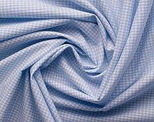 Aktivstoffe 15247 Stoffe Vichy Karo, 2 m, hellblau