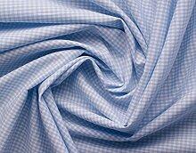 Aktivstoffe 15252 Stoffe Vichy Karo, 7 m, hellblau