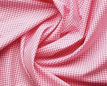Aktivstoffe 15258 Stoffe Vichy Karo, 3 m, rosa