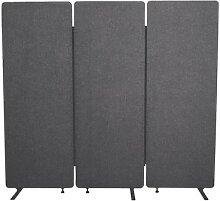 Akustik-Raumteiler 3tlg. »Luxor« grau, Luxor,