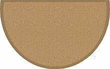 Akzente Fußmatte beige Größe 50x80 halbrund