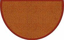 Akzente Fußmatte terra Größe 50x80 halbrund