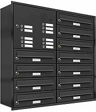 AL Briefkastensysteme, 11er Unterputzbriefkasten