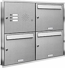 AL Briefkastensysteme, 3er Unterputzbriefkasten,