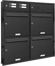 AL Briefkastensysteme, 4er Unterputzbriefkasten