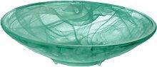 Alabaster Brunnenschale grün matt, Ø 30 cm für