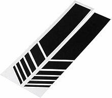 Alamor 2Er Car Rückspiegel Aufkleber Vinyl Stripe
