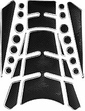 Alamor Motorrad Tank Pad Aufkleber für Honda/Suzuki/Yamaha/Kawasaki - Silber