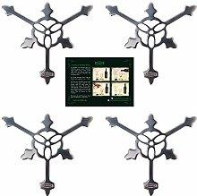 ALANDIA 4X Absinth-Löffel Gothic | Premium